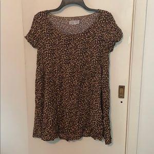 American Apparel Babydoll Dress in Leopard Print